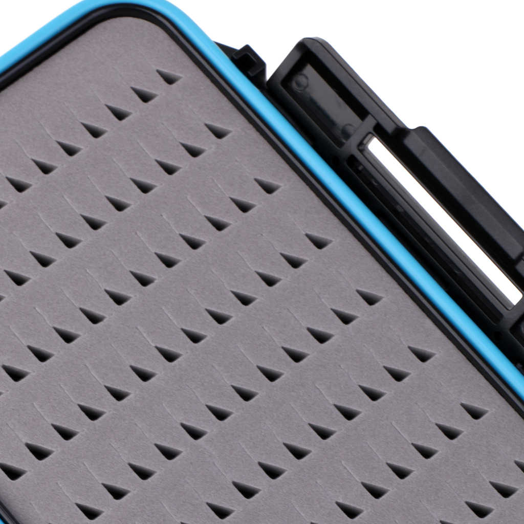 Two-Sided Waterproof Fly Box Easy Grip Foam Jig Fly Fishing Box