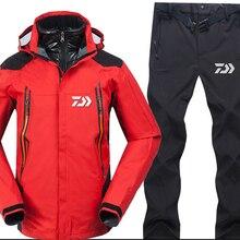 Дайв Рыбалка одежда осень зима мужские спортивные наборы походные куртки для рыбалки и штаны рыболовные флисовые теплые уличные пуховые пальто