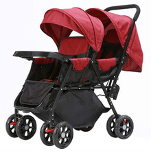 ILcomun Baby Stroller For Twins Newborn Easy Folding Buggy Infant Big Pushchair Toddler Carriage Lying And Sitting Strollers