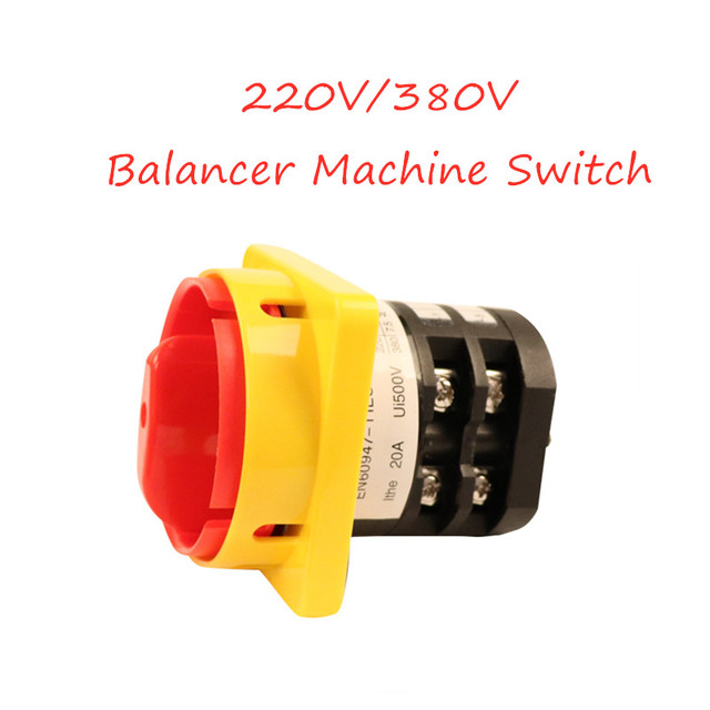 Discount tire balancing machine replacement parts 220 / 380V forward and reverse motor switch