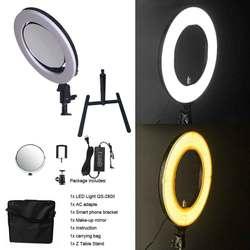 Yidoblo QS-280 10 Camera Selfie makeup Photo/Studio/Phone/Video LED Ring Light Photography 28W Bio-color Ring Lamp with handbag