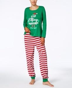 Image 2 - ファミリークリスマスパジャマセット家族マッチング服大人の子供パジャマセットベビーロンパースクリスマス停止elfingファミリーパジャマ