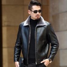 Mens PU Leather Jacket Men Motorcycle 2019 New Casual Fleece Jackets Coats Warm Dropshipping