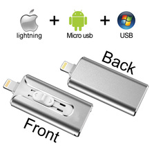 Usb 3.0 OTG USB Flash Drive 128GB 64GB 32GB Pen Drive Flash Disk 16GB 64GB Pendrive 3 in 1 Micro Usb Stick for iPhone/Android/PC genuine original sandisk ultra usb3 1 z800 usb flash drive 128gb 64gb pendrive 32gb 16gb pen drive support official verification