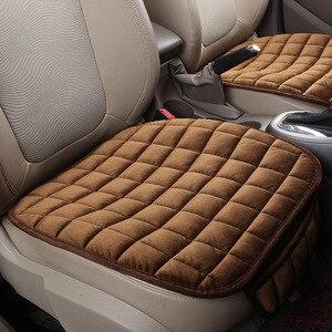 Image 5 - Универсальные зимние теплые чехлы для сидений автомобиля, Нескользящие Чехлы для передних сидений, дышащие накладки для автомобильных сидений, Защитные чехлы для автомобильных сидений
