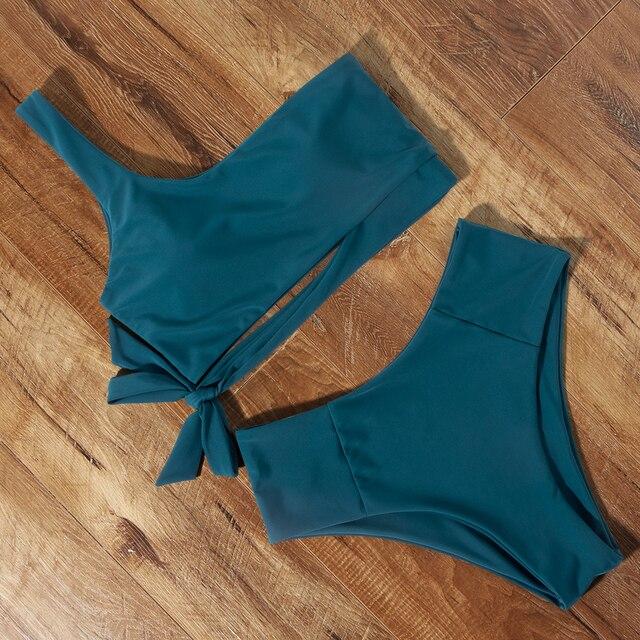 Solid Bikini Set