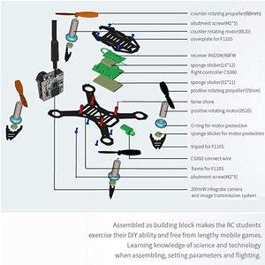 Image 5 - Radiolink F110S Micro FPV Racing Drone Quadcopter CS360 FC R6DSM dla początkujących RC szkolenie zawodowe z kamerą fpv 200mw