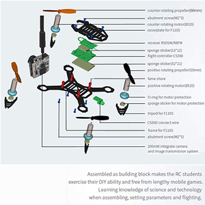 Image 5 - Radiolink F110S Micro FPV Racing Drone Quadcopter CS360 FC R6DSM for RC Beginner Professional Training with 200mw fpv Camera
