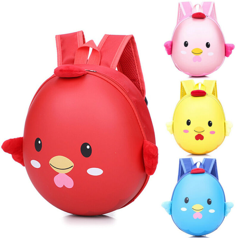 Cute Chicken Baby Backpack Children Eggshell Hard Shell Bag Boy Girls Schoolbag