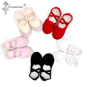Girls Kids Pointe Shoes Dance Slippers High Quality Ballerina Practice Shoe For Ballet 5 color Ballet Dancer Professional Shoe 1