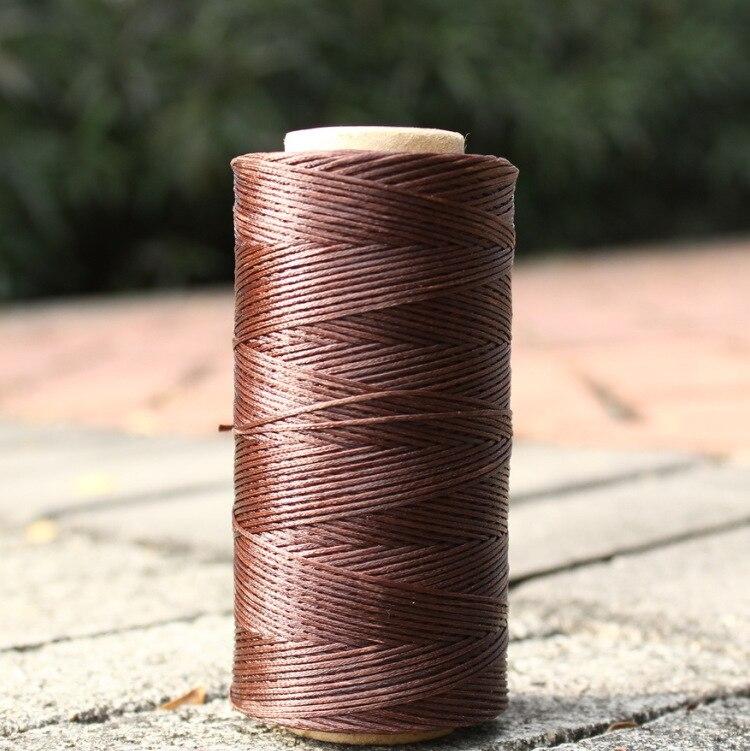 Новинка 0,8 мм 260 м плоская Вощеная линия DIY кожаные швейные нитки инструмент для ремесленного пошива ручная строчка для нейлоновой нити воск нейлоновая нить