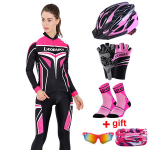 Autumn Spring Long Sleeve Women Cycling Clothing Mtb Pro Team Jersey Bike Riding Suit Breathable Bicycle Dress Ladies SportsWear