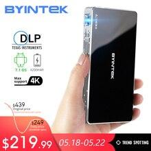 BYINTEK Mini Projector P10,Smart Wifi Pocket Pico Portable Beamer, LED DLP lAsEr Mobile For Smartphone 4K 3D Cinema