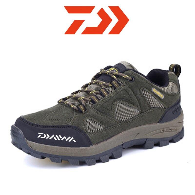 Dawa New Men Climbing Shoes Non Slip Hiking Shoes for Men Waterproof Trekking Sneakers Man Fishing Camping Shoes Hunting Boots
