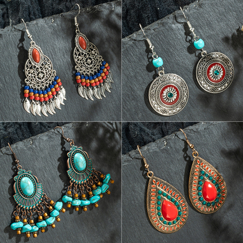 Multiple Vintage Ethnic Boho Dangle Drop Earrings Gifts for Women Female Anniversary Bridal Party Wedding Wholesale.jpg 350x350 - Multiple Vintage Ethnic Boho Dangle Drop Earrings Gifts for Women Female Anniversary Bridal Party Wedding Wholesale Jewelry