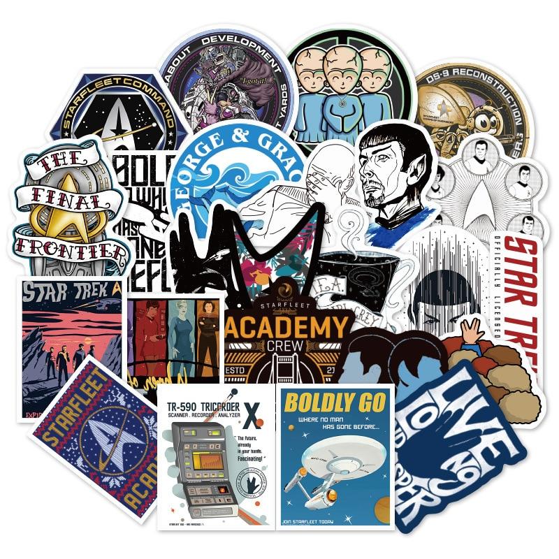 36pcs Star Trek Space Cartoon Graffiti Sticker Travel Box Skateboard Guitar Car Waterproof Wallpaper Toys Stickers F3