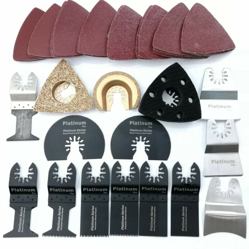 54pcs Set Mix Saw Cutter Vibration Oscillating Multi Tool For Fein Milwaukee Hard Materials Work Polishing