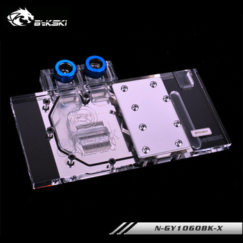 Bykski gpu cooler for Galax Geforce GTX 1060/Gainward GTX 1060 6G/1060 3G Full Cover Graphics card gpu water block,N-GY1060BK-X image