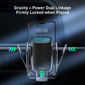 Image 4 - Baseus qi 무선충전기 핸드폰거치대 충전기 아이폰 11 프로 xs 최대 삼성 s10 지능형 적외선 핸드폰 거치대 빠른 무선 충전 자동차 전화 홀더 무선충전패드
