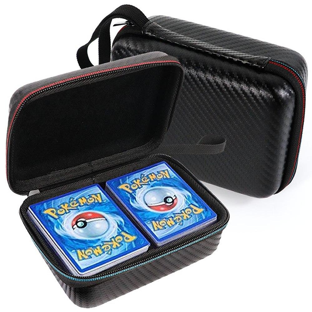 400pcs 용량 포케몬 TCG 카드 스토리지 박스 어린이 게임 트레이딩 카드 컬렉션 가방 캐리 케이스 베스트 셀러 키즈 선물 완구