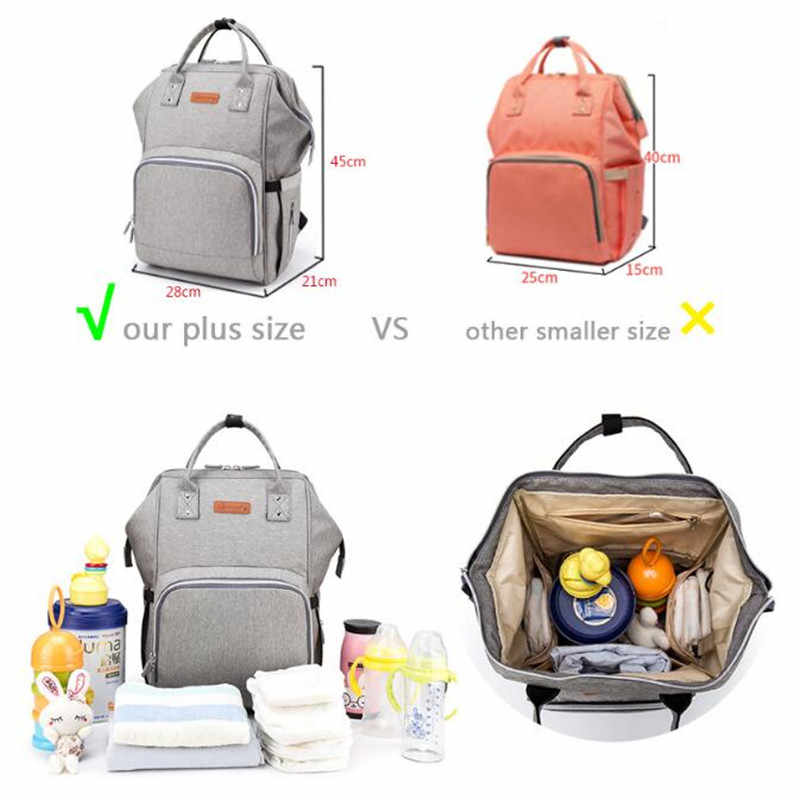 Large Diaper Bags Mummy Maternity Nappy Changing Bag Baby Travel Backpack Nursing Bag Drop Shipping stroller backpack for mom