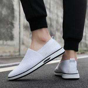 Image 5 - Zapatos informales para hombre, calzado Formal, plano, blanco, moda, 7 11
