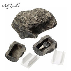 Бесплатная доставка Открытый сад ключ коробка рок Скрытая скрыть в камень безопасности Сейф для хранения скрывать