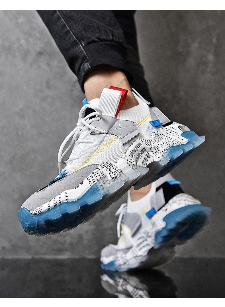 homens casuais tênis 2021 sapatos plataforma respirável