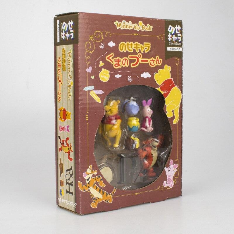 Disney Toy Winnie The Pooh Tigger Piggy Pijie with Honey Jar Action Figures 2 5cm Children Birthday Gifts Toys Decoration 5DWDolls   -