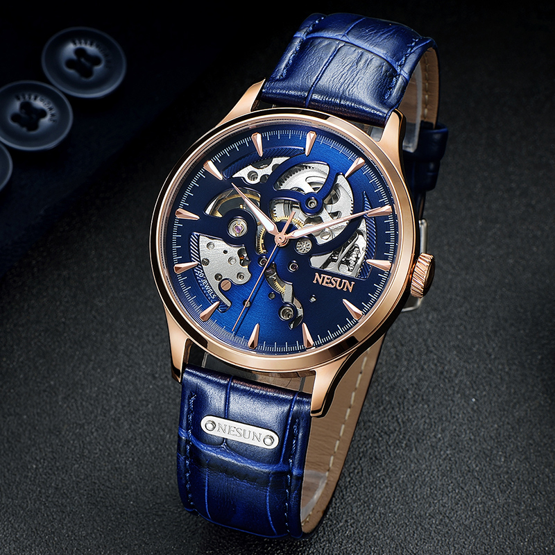 Watches Automatic Self-Wind Mechanical Switzerland Sports NESUN Luxury Mens Fashion Relogio Masculino Top-Brand Men Wristwatch
