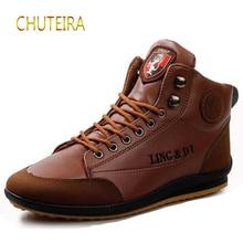цены Autumn Winter Men Boots Big Size 39-46 Vintage Style Boots Men Shoes Casual Fashion High-Cut Lace-up Warm Wear resistant