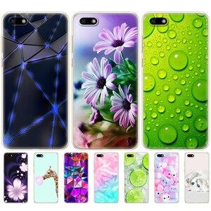 Silicone case for Huawei Y5 2018 PRIME 5.45 inch soft cartoon Tpu phone case Huawei Y5 2018 back cover for Huawei Y5 lite 2018