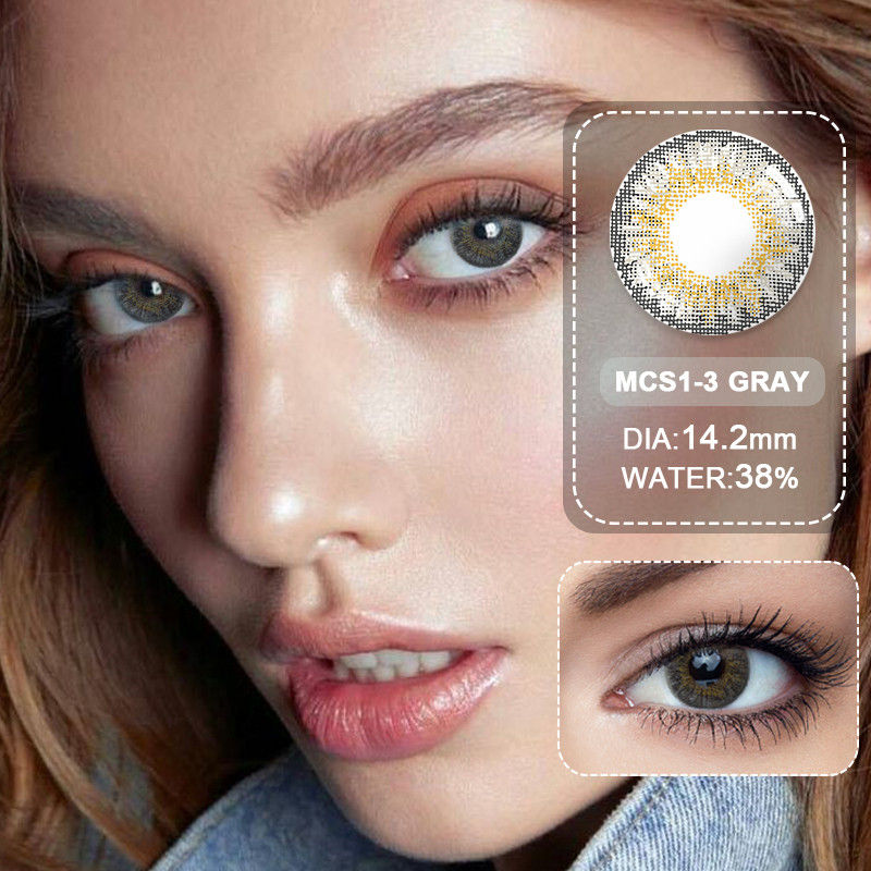 (Wholesale) Colored Contacts/Circle Lenses 2pcs/Pair Contact Lenses For Eyes Non Prescription Color Contact Lens With Free Case 1