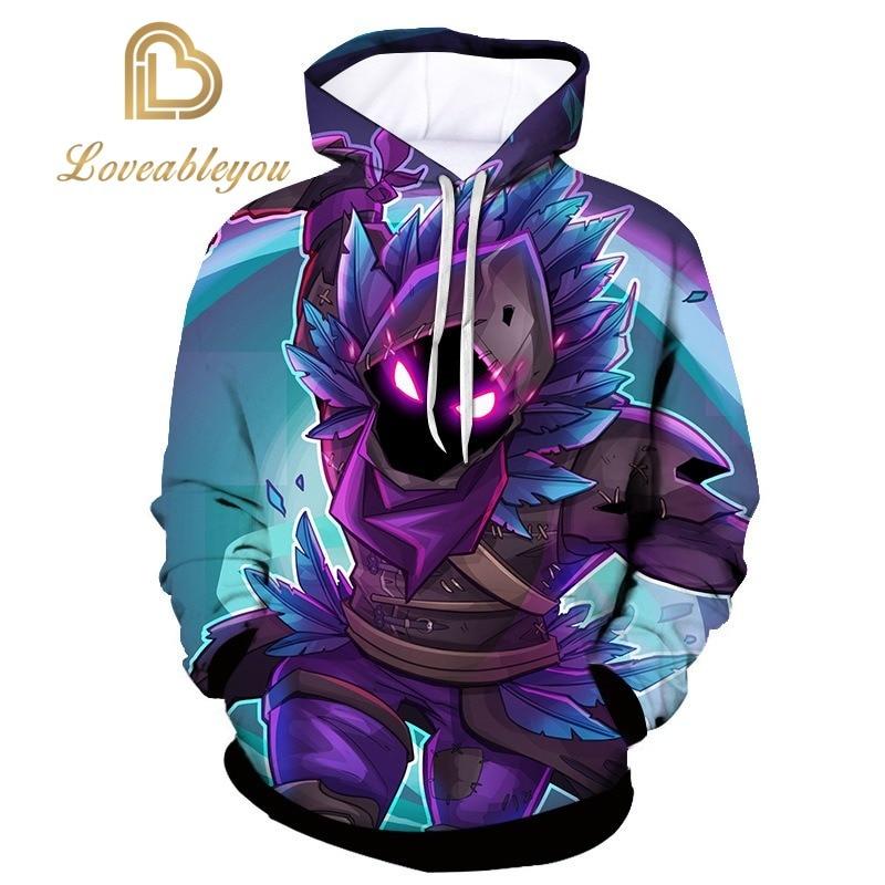 2019 Anime Unisex 3D Print Streetwear Punk Hoodies Hip Hop Sweatshirt Men Hoodie Harajuku Top