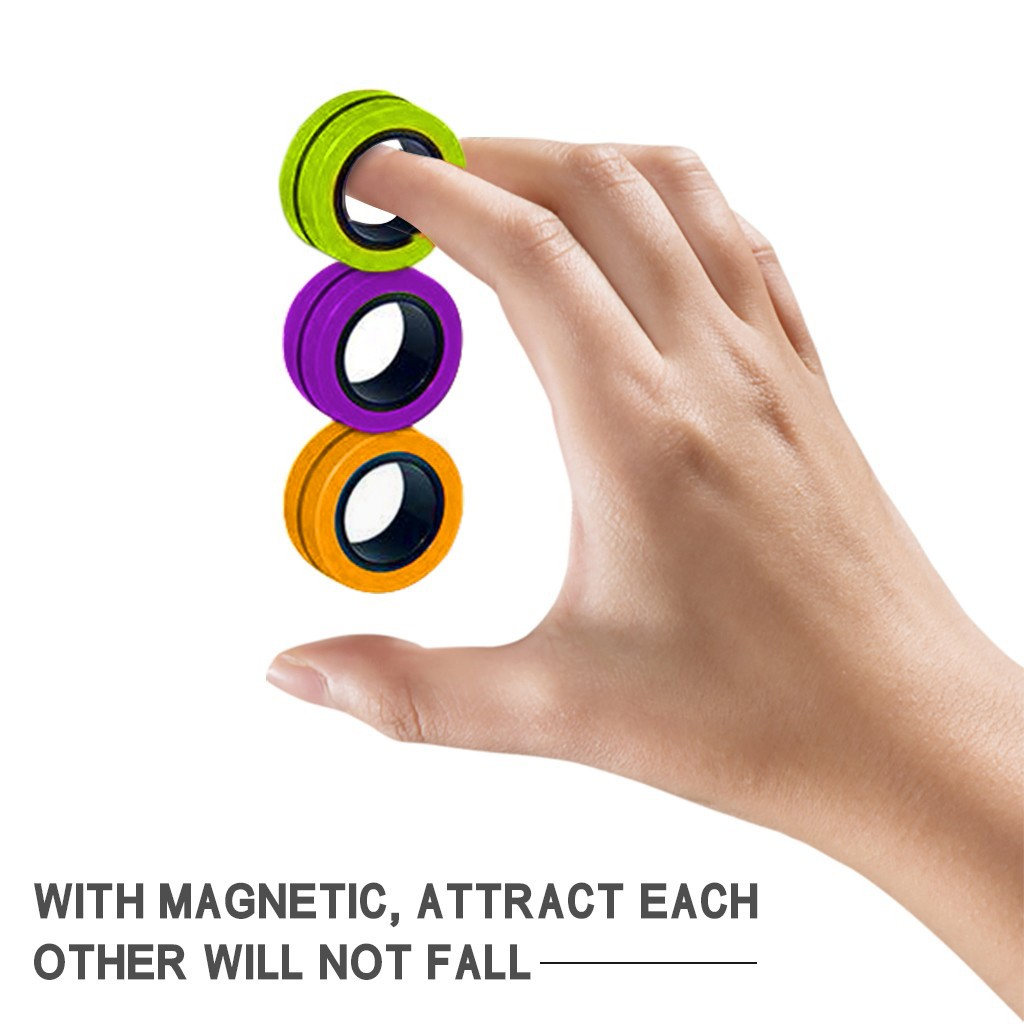 Toy Fidget-Toys Magic-Ring-Props Stress Magnetic Unzip 3pcs Zabawki img4