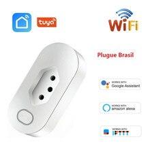Brasilien Smart WIFI Buchse BR Stecker Drahtlose Outlet Tuya Smart Timing Stecker 16A Energie Monitor Für Alexa Google Home IFTTT freies Schiff