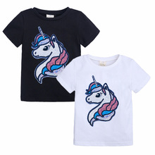 Girls Clothes Summer Unicorn T-Shirt Tops Boys Clothes Kids Cotton T-Shirt Short sleeve Casual Tops For Baby Children Clothes love kids baby boys clothes cool summer superman short sleeve t shirt cotton tops clothes lxl