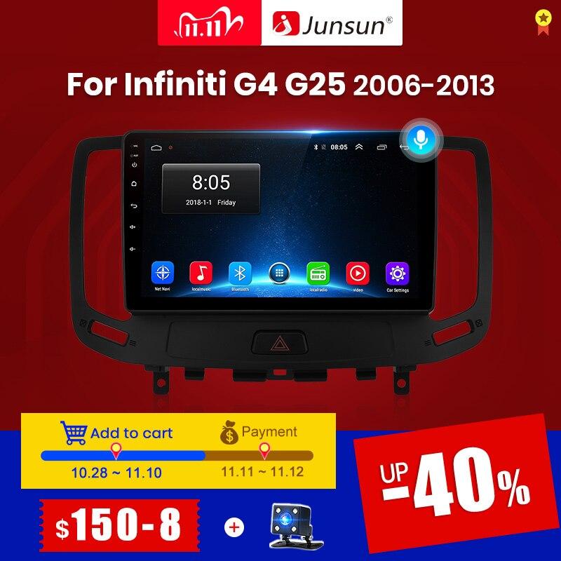 Junsun v1 android 10.0 carplay rádio do carro multimídia player de vídeo estéreo automático gps para infiniti g4 g25 g35 g37 2006-2013 2 din dvd