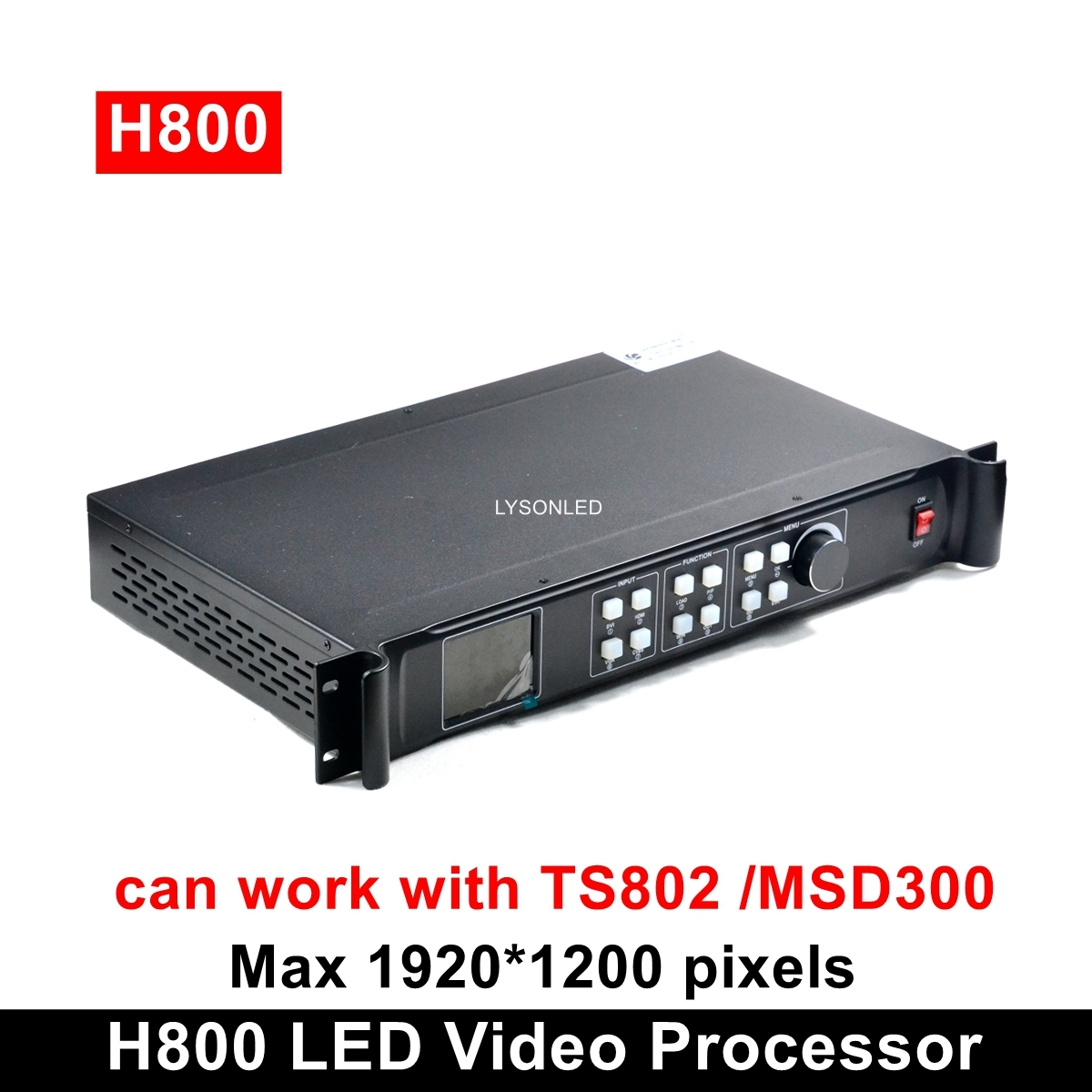 H800 Professional LED Video Processor Compatible With MSD300 TS802 Sending Card 1920*1200 Pixels