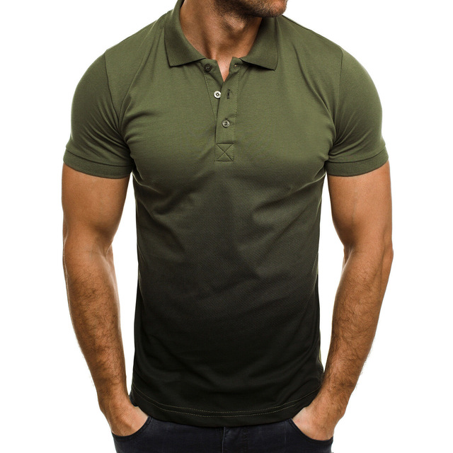 KB Men Polo Men Shirt Short Sleeve Polo Shirt Contrast Color Polo New Clothing Summer Streetwear Casual Fashion Men tops 3