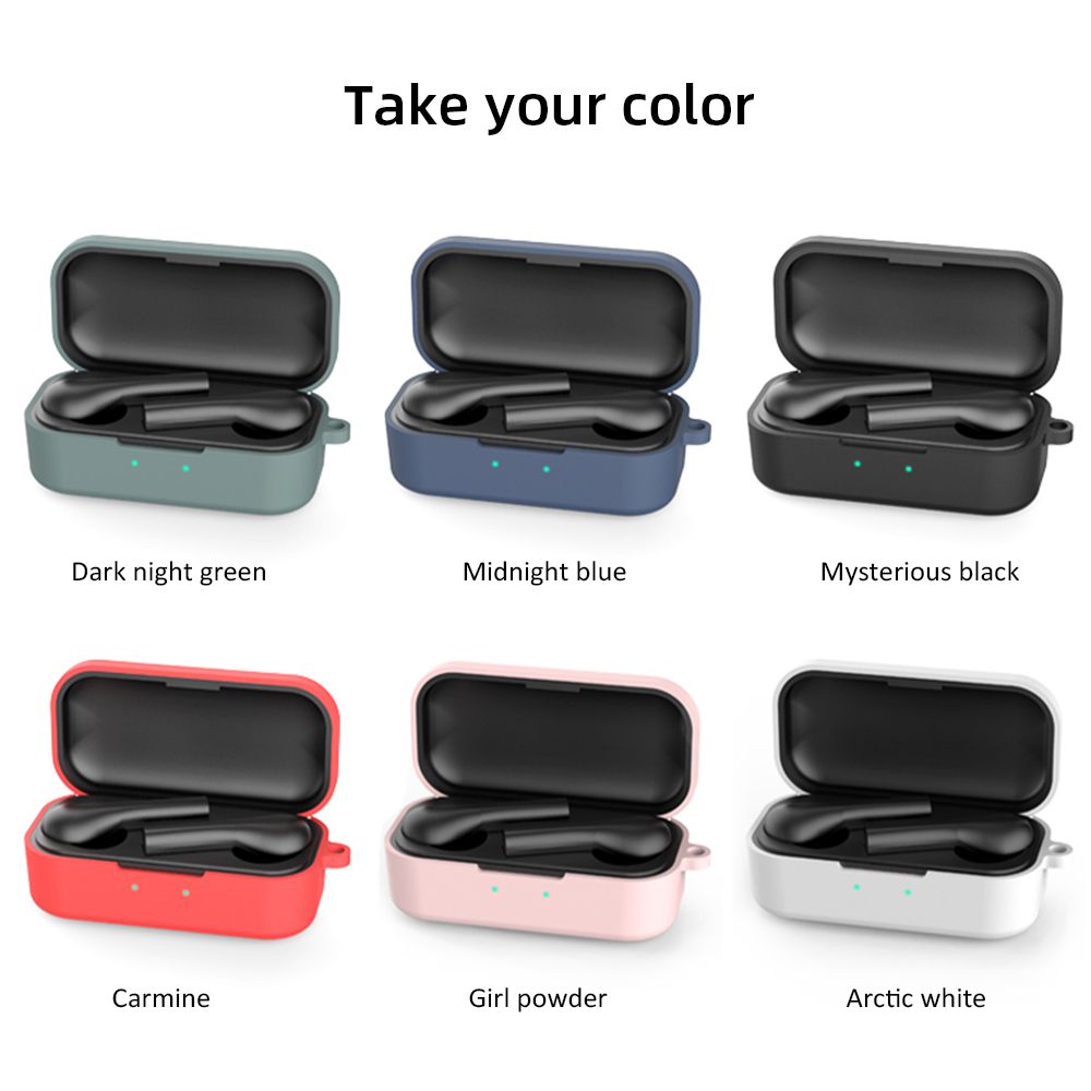 2020 Candy Color Silicone Cases For QCY T5 Wireless Bluetooth Protective Case For QCY T1S QS2 Earphone Portable Anti Lost Buckle
