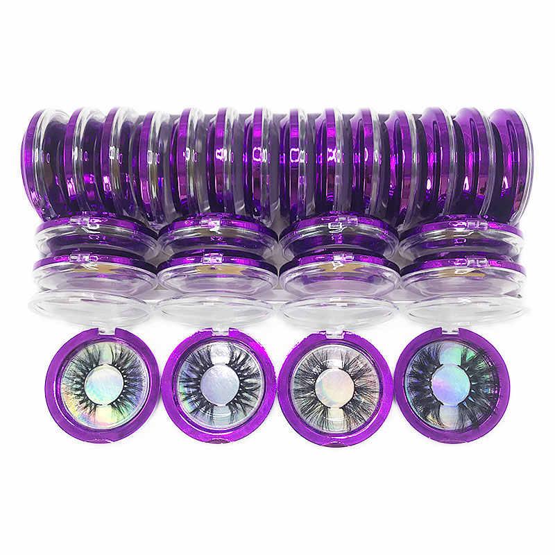 25mm Lashes toplu 3D vizon kirpik durumda kutuları 30/40/50 çift Logo ile özel kutular Lashe satıcı vizon kirpikleri toptan