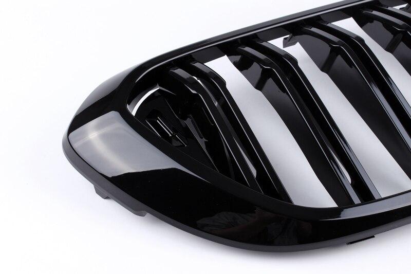 Dubbele Lijn Heldere Zwarte Drie Kleur Carbon Fiber Abs Nieren Voor Bmw G32 6GT - 5