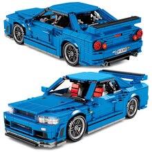 Children Toys 833PCS high-tech City Pull Back Vehicle Supercar Building Blocks Speed Racer Racing Sports Car Bricks Kids Gifts