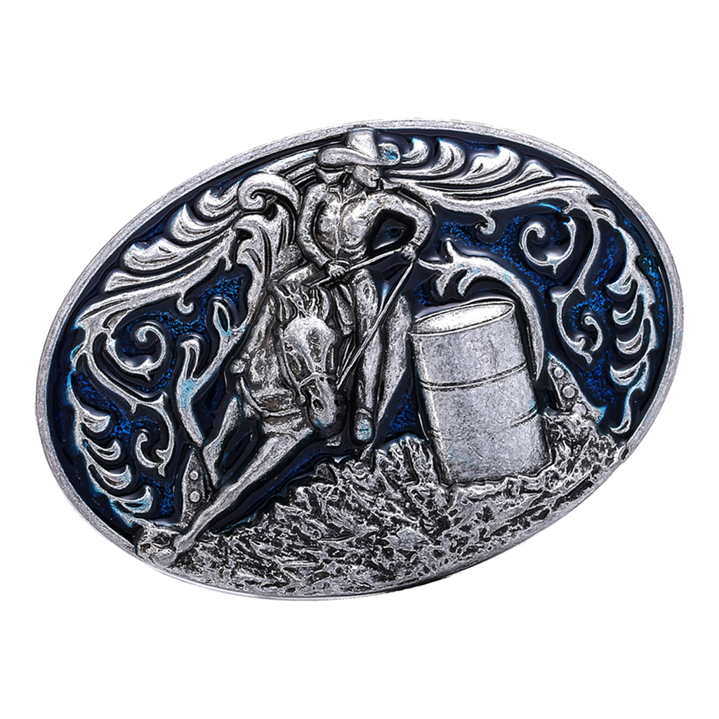 Vintage Style Oval Belt Buckle Barrel Racing Cowboy Buckle Jeans Accessories WesBuck Brand Belt Buckle Carpenter Mechanic Buckle