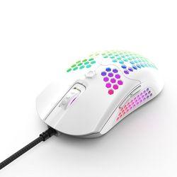 M5 drążona mysz do gier o strukturze plastra miodu kolorowa podświetlana światłem RGB przewodowa mysz 63HD