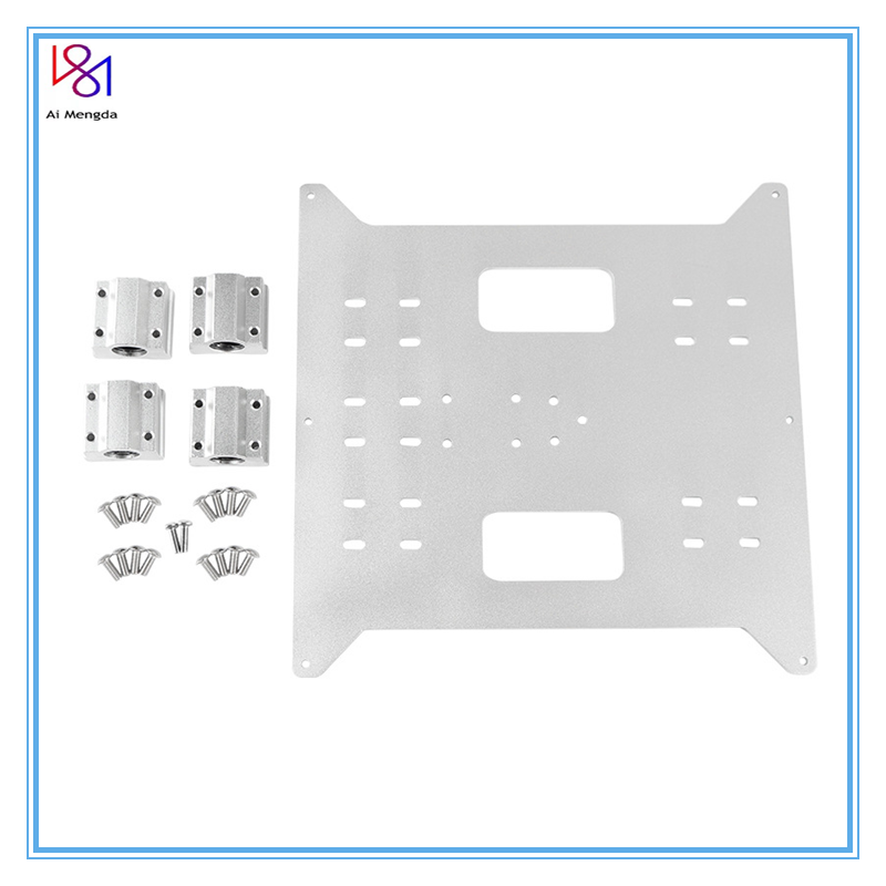Y Carriage Replacement Upgrade Aluminum Plate for  Monoprice Maker Select       Wanhao Duplicatior and Anycubic i3 Mega 3D Printer