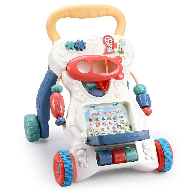 Мульти-функциональный ходунки для детей раннего образования головоломки тележка с баком Противоскользящий ходунки детские игрушки