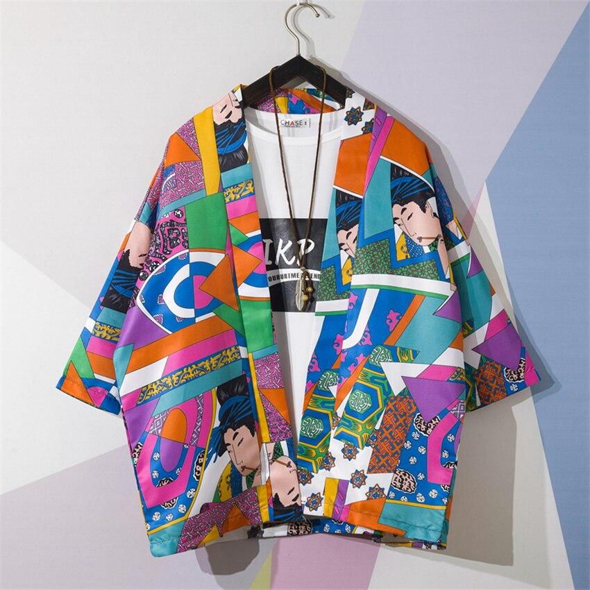 Kimono de estilo japonés tradicional ukiyo-e estampado de dibujos animados Yukata camisa moda de verano Haori Harajuku playa prendas de vestir abrigo Figura de anime original japonesa FGO/Gran Orden figura de acción Astolfo juguetes coleccionables para niños