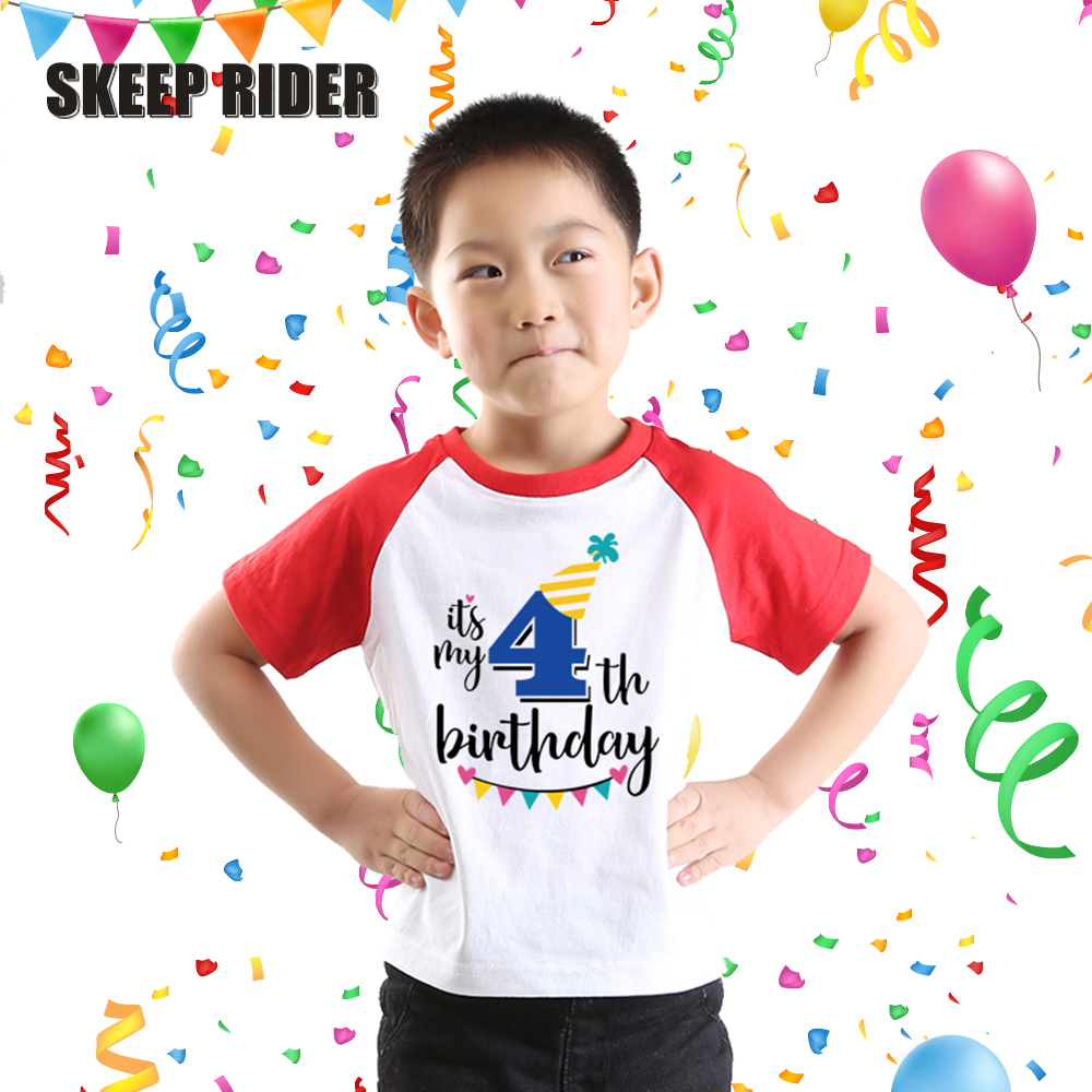Toddler Tshirt Kids Happy Birthday Shirts Boys T Shirts Baby T-shirt Clothes
